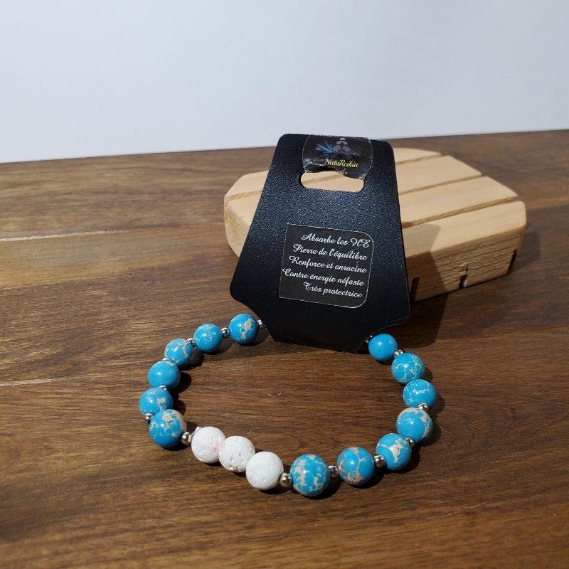 bracelet pierre volcanique