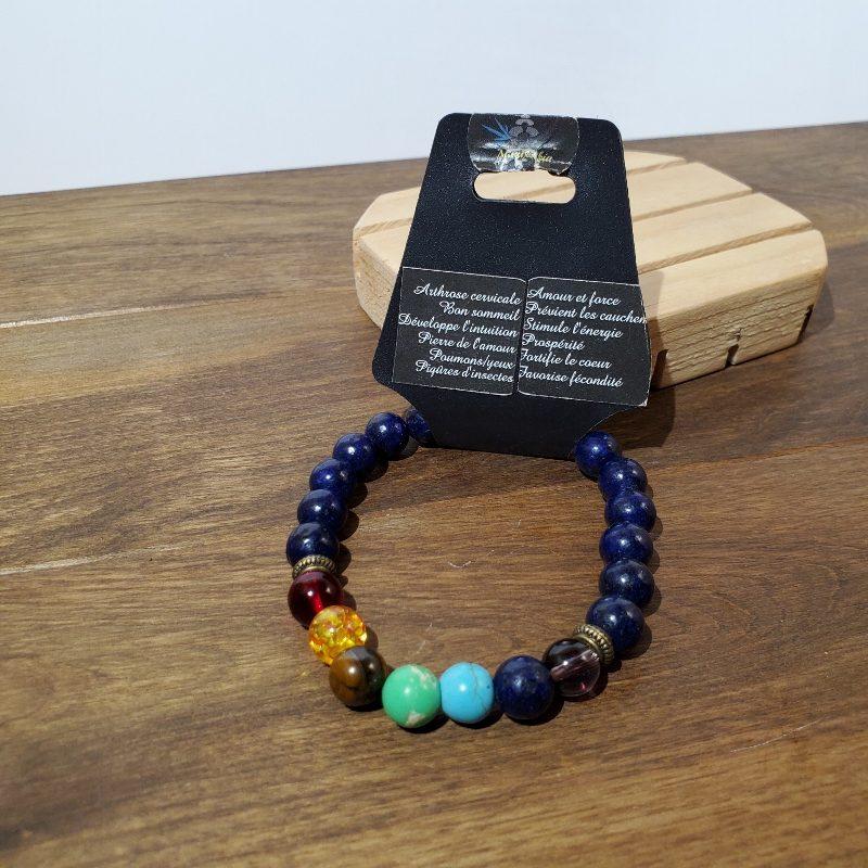 bracelet lapiz lazuli et grenat